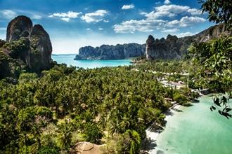 Railay Tajlandia wakacje wycieczki egzotyczna podroz najpiekniejsze plaze ciekawe miejsca