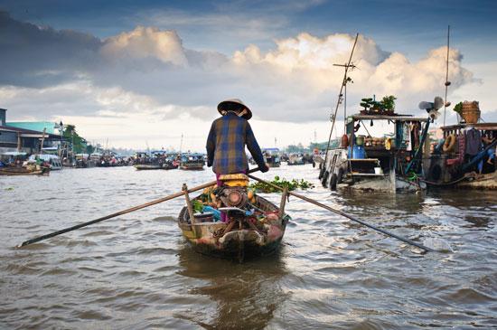 Wietnam delta Mekongu