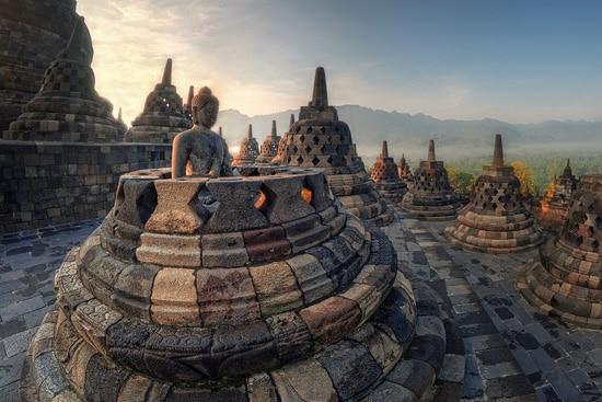 Indonezja Yogyakarta, świątynia Prambanan