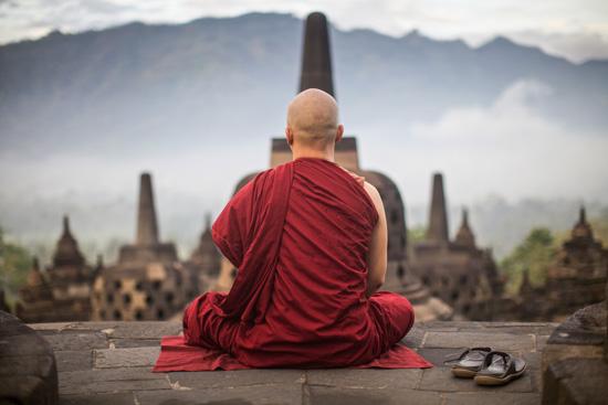 Indonezja Yogyakarta, mnich