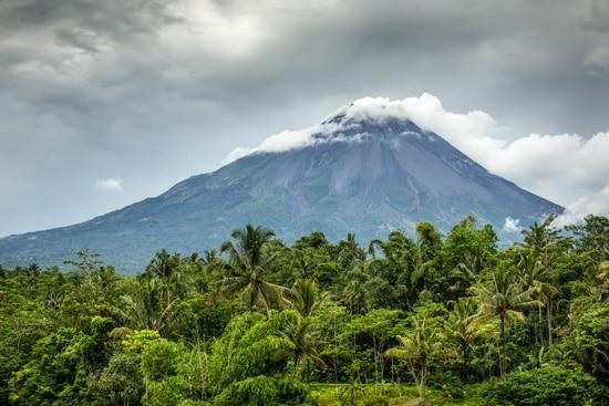 Indonezja Yogyakarta, wulkan